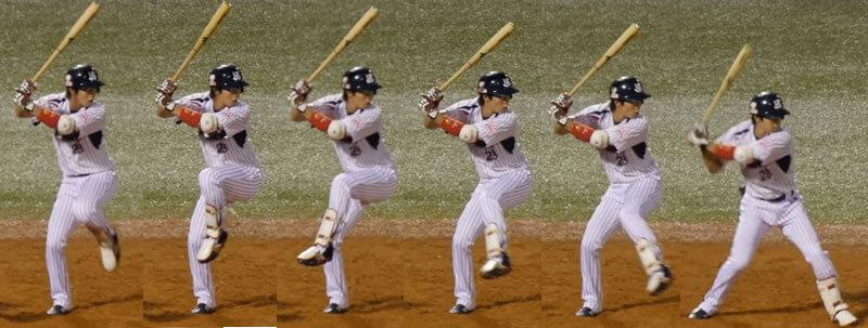野球のレッグキック