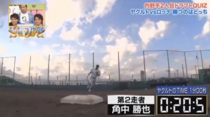 二塁のベースランニング