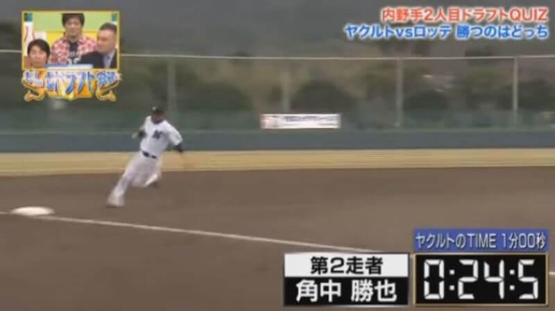 三塁へのベースランニング