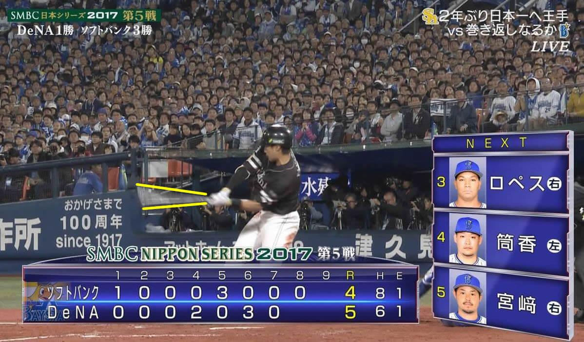 野球のハーフスイング